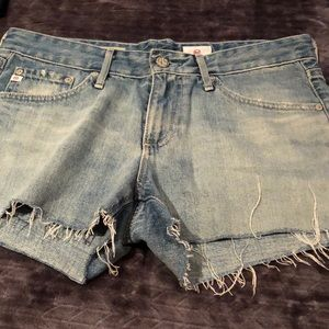 AG Adriano Goldschmied denim cut off short size 26